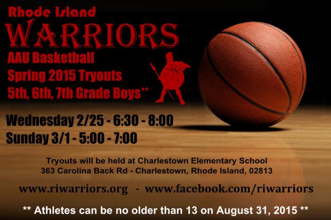 warriors-tryout-flier
